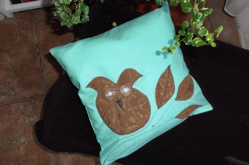 Decorative cover for pillows OWL - 11 x 11 inch